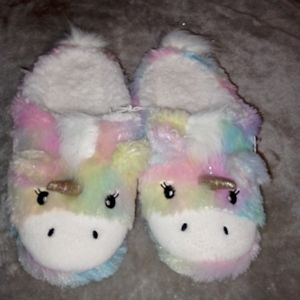 So unicorn slippers